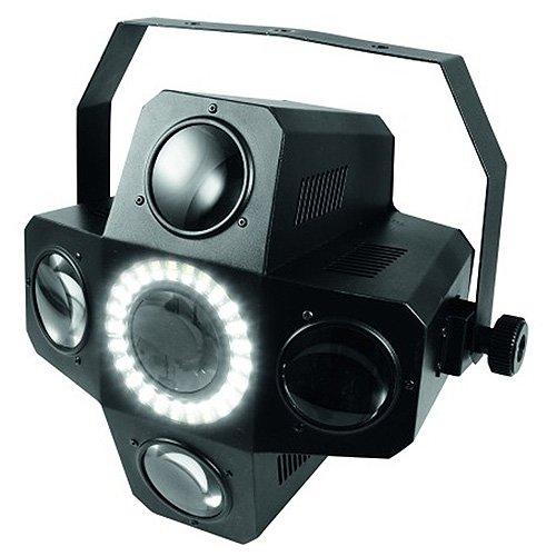 Eurolite LED PUS-5 Hybrid Flowereffekt | LED-Lichteffekt mit Stroboskop | Bequeme Ansteuerung auch per W-LAN mit Ihrem Tablet oder Smartphone und der Eurolite Hybrid App