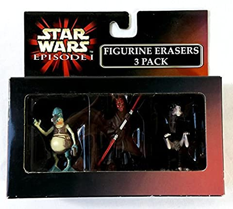 Star Wars Episode 1 Figurine Erasers 3 Pack with Watto, Darth Maul and Sebulba the Pod Racer