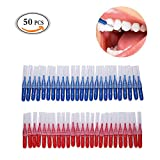 MLMSY Scovolini interdentali da 2,5 mm per la pulizia dei denti e l'igiene orale, spazzola morbida, gengive sane, strumento per la pulizia dei denti, 50 pezzi