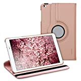 kwmobile Funda para Huawei MediaPad T1 10 - Carcasa 360 Grados de Cuero sintético para Tablet en Oro Rosa