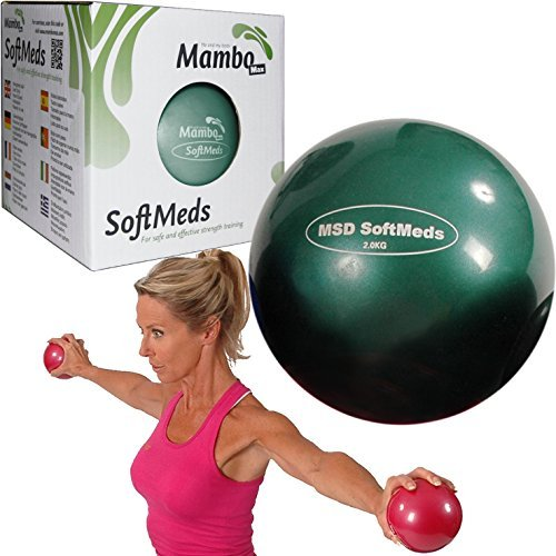 MSD softmed 2kg balón medicinal 12cm suave inflable bola pesas Pilates Fitness