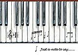 (7x5) une carte de v?ux Motif touches d\'un Piano
