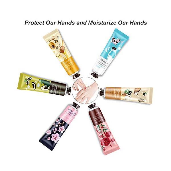 Crema De Manos, Crema Hidratante Para Manos, Crema de Manos Reparadora, Crema de Manos Gift Set Paquete de, Extracto de fruta y extracto de plantas -6 * 30 ml