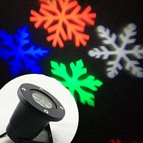 Outdoor wasserdicht Projektor IP44 Winkelverstellbar Lichtprojektor mit weissen Schneeflocken für Innen und Außen Beleuchtung, 5V/1A Auto Pa-system Mikrofon