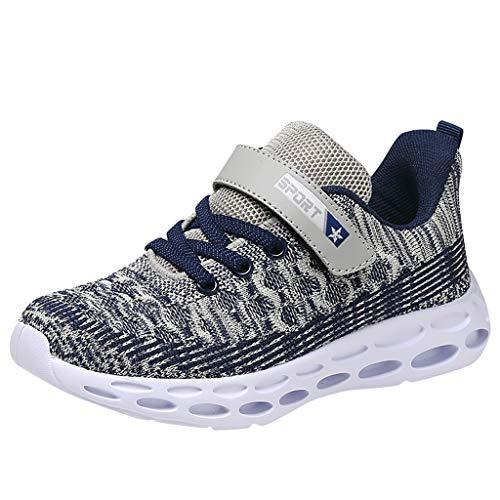 HDUFGJ Turnschuhe Jungen Sneaker Mädchen Sportschuhe Mesh Atmungsaktiv Laufschuhe Kleinkind Schuhe Tuch Set Füße Freizeitschuhe28 EU(Grau)