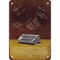 1963 IBM - Placa metálica de metal para máquinas de escribir eléctricas, aspecto vintage,