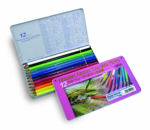 12 color tone set design Holbein colored pencil (japan import)