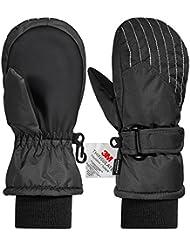 Gants Enfant, Andake Gants de Sport Fille/Garçon- Confortables Chauds Épais Étanches Protègent du Vent Imperméables Pour Ski Snowboard
