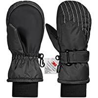 Andake Kids Ski Gloves, 3M Thinsulate Extra Warm Gloves,Breathable Waterproof Windproof Ski Mittens ,Great for 2-7 Years Old Children in Winter