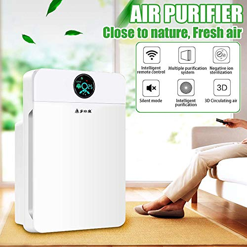 51IkHKionjL. SS500  - CVB Air Purifiers-White Air Cleaner Formaldehyde Purifier LCD Display Remote Control Timer Low Noise 220V Home Dust HEPA Filter