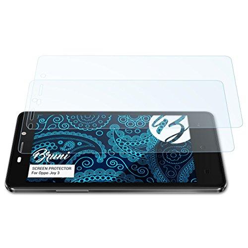 Bruni Schutzfolie für Oppo Joy 3 Folie, glasklare Displayschutzfolie (2X)