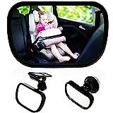 Baby Bambino Vista Posteriore Specchio, Specchietto Retrovisore Bambino,Specchio per Auto Sedile Posteriore Specchio, Specchio Auto Regolabile per Bambini Specchietto per Sedili Posteriori