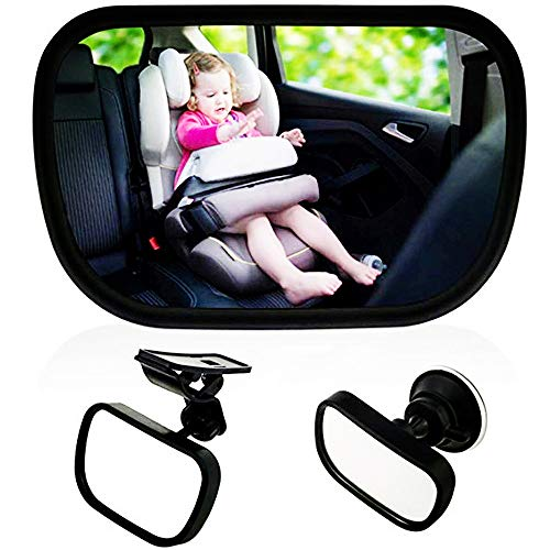 Espejo retrovisor beb para vigilar al beb en coche 360 for Espejo retrovisor para ninos