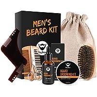 Kit Cuidado de Barba,MayBeau Bálsamo Barba,Barba Champú, Peine para Barba,