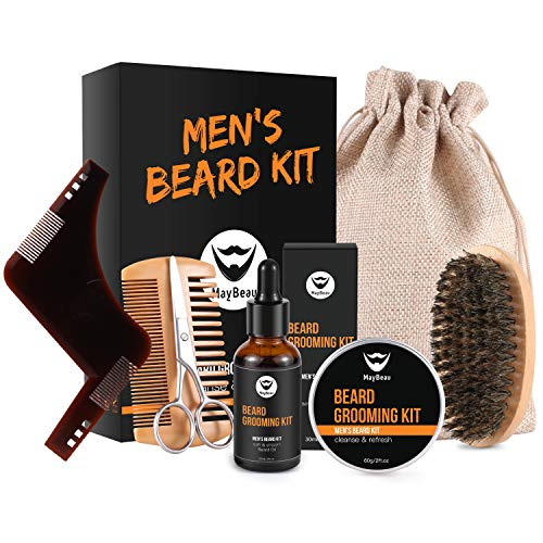 Kit Cuidado de Barba,MayBeau Bálsamo Barba,Barba...