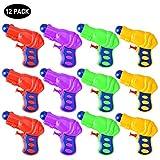 Queta Acqua Pistola Squirt Pistola di plastica per Bambini Confezione da 12 (Colore Casuale)