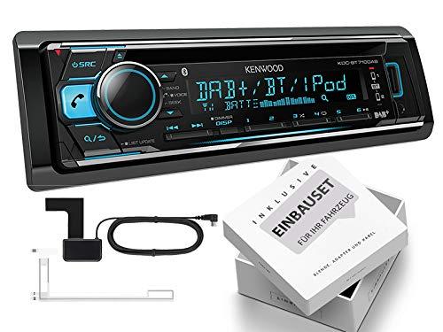 Kenwood KDC-BT710DAB 1-DIN Autoradio mit DAB inklusive Antenne Bluetooth für Jeep Cherokee/Liberty KJ 2001-2008 schwarz