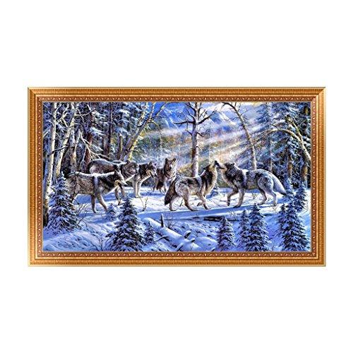 autone DIY 5D Wolf Snow Diamant Stickerei Malerei Craft Home Decor Kreuzstich