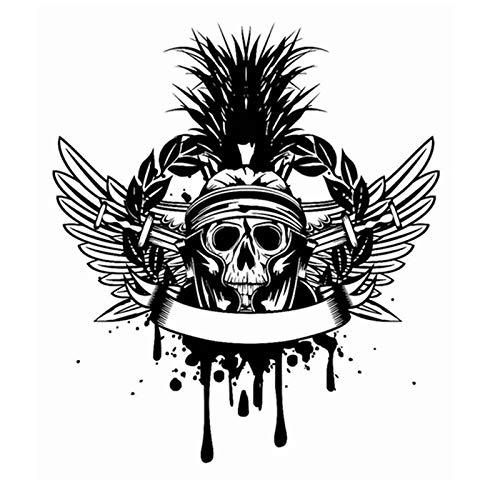 weiaikeke Schädel Halloween Schwert flügel Aufkleber Punk Tod Aufkleber Horror Halloween Teufel Poster Name autofenster Kunst Wand d 58 * 69 cm