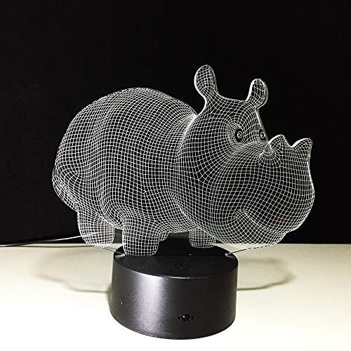 3D LED Illusion Licht, 3 Muster 7 Farben ferngesteuertes dimensionale Basketball Licht, optische Nachtlichter, Tischlampe Atmosphäre Dekoration, Kinder Geburtstagsgeschenke, Little Hippo M240 Usb