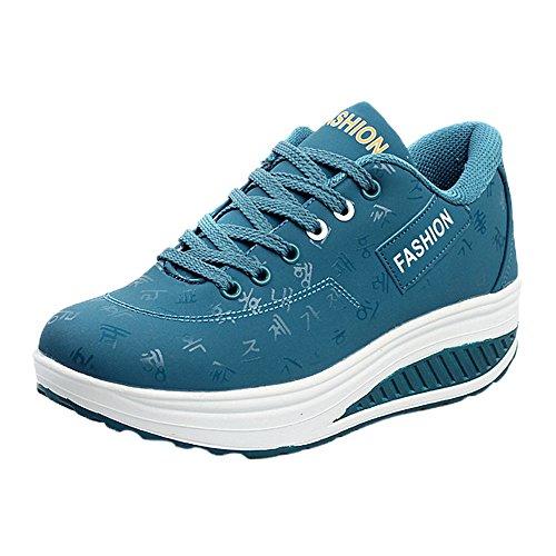 beautyjourney Scarpe da Ginnastica donna Scarpe sneakers estive eleganti donna scarpe da corsa donna Sportive donna scarpe donna stringate - Donna casual sport moda crescente scarpa (41, Nero)
