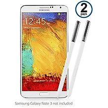 Galaxy Note 3lápiz capacitivo, BoxWave® [S Pen (2-Pack)] de silicona punta, precisa S Pen de repuesto para Samsung Galaxy Note 3–invierno color blanco