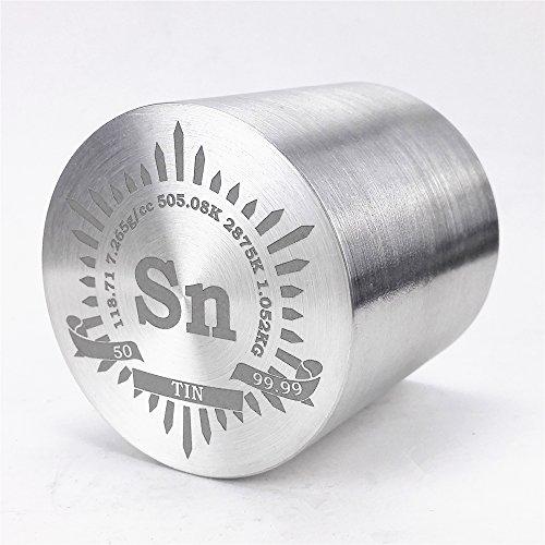 1kg Fein Wenden Dose Metall Zylinder 57×, 99,99% Gravur Periodensystem
