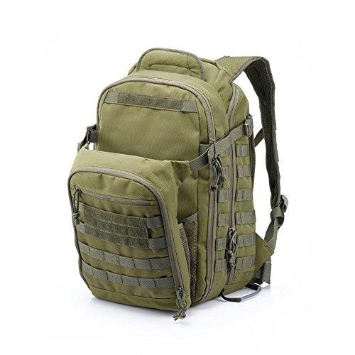 Imagen de yakeda® bolsa de hombro bolsos del alpinismo al aire libre equipado camuflaje táctico  de camping bolsa de viaje bolsas de viaje   militar 60l que acampa yendo trekking bolsa  a88034 verde militar  alternativa