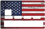 Deco-idees Sticker pour Carte bancaire, American Flag - Différenciez et décorez Votre Carte bancaire Suivant Vos Envies!! Facile à Poser, sans Bulle...