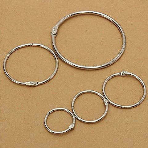 10pcs Metal Binding Rings Hinged/ Craft Split Hinge For Notebook Scrapbooking Album Binder