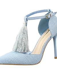 LvYuan-ggx Zapatos de mujer-Tac¨®n Stiletto-Tacones-Tacones-Fiesta y Noche-Terciopelo-Negro / Azul / Rojo / Gris / Caqui , gray-us8 / eu39 / uk6 / cn39 , gray-us8 / eu39 / uk6 / cn39