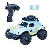 ACHICOO RC C Télécommande Jouets MN36 Voiture d'escalade Tout-Terrain 1:18 Coccinelle 2 Roues conducteur Enfants Modèle Jeune Bleu Argent 2,4 GHz