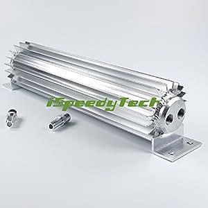 Dual pass dissipatore di calore in alluminio di raffreddamento auto cambio olio Coolers Fined lega trasmissione Coolers Dual pass 45,7cm