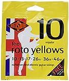 Rotosound Roto Yellows R10Cuerdas para guitarra eléctrica 10–46(2paquetes)