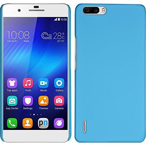 PhoneNatic Case für Huawei Honor 6 Plus Hülle hellblau gummiert Hard-case für Honor 6 Plus + 2 Schutzfolien