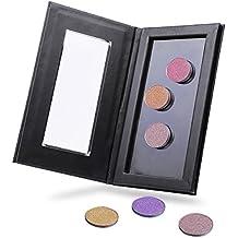 VALUE MAKERS Profesional paleta de maquillaje magnético para la sombra de ojos Blusher Fundación en polvo - Vacío (Negro)
