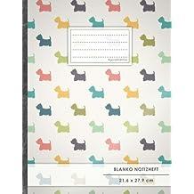 """Blanko Notizbuch • A4-Format, 100+ Seiten, Soft Cover, Register, """"Westie Terrier"""" • Original #GoodMemos Blank Notebook • Perfekt als Zeichenbuch, Skizzenbuch, Sketchbook, Leeres Malbuch"""