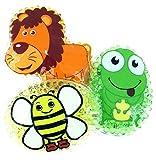 3 Kühlpads Löwe Frosch Biene Wärmepad mehrfach Kompresse Kühlkissen Kinder wärmen kühlen Tiermotiv