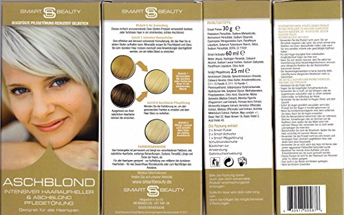 Smart Beauty Aschblond Intensiver Haaraufheller & Plantinblond Pflegetönung 115 ml