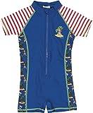 Playshoes Jungen UV - Einteiler Pirateninsel, Blau, 98 - 104