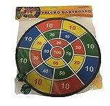 Fun Toys 10093 - Dartscheibe 37 cm mit Klettband, Dart Spiel Klett Scheibe, Bälle, Pfeile