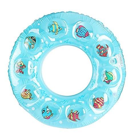 Lanlan 1 Pcs Inflatable Swimming Rings Printing Swim Circle Floating Swimming Laps Summer Pool Toy for Kids Adult Random