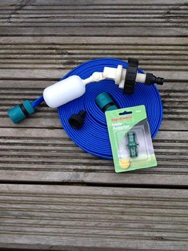 Aquaroll Mains Water Valve Kit with Space Saving 10 mtr FLAT food grade hosepipe lz 1
