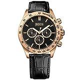 Boss 1513179 - orologio da polso per uomo al quarzo con cronografo, cinturino in pelle