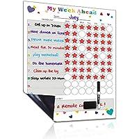 UCMD Calendario de tiempo Calendario: tabla de tareas magnéticas para niños, tabla de comportamiento (40 X 30 cm-2)