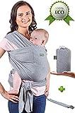 Baby Wrap Carrier - Baby Sling fino a 15,9 kg - Baby Wrap - Baby Carrier Sling - Baby Carrier Wrap e Sleepy Wrap per bambino - Fascia per allattamento - Perfetto regalo del bambino - Organic Cotton