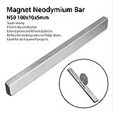 Starker Magnet/Seltenerdmagnet aus N42/NdFeB/Neodym, rechteckiger Block, dünne Magnetstäbe für Heimwerker/Wissenschaftler/Zuhause und Büro – 100 x 10 x 5 mm, von Lifesongs