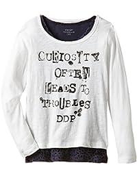 DDP G1BLY0D - T-shirt - Imprimé - Col rond - Manches longues - Fille