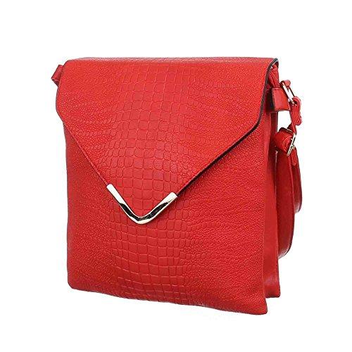 Ital-DesignSchultertasche bei Ital-Design - Borsa a spalla Donna Rosso (rosso)