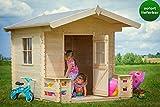 Kinderspielhaus Luna Park - 1,60 x 1,70 Meter aus 19mm Blockbohlen